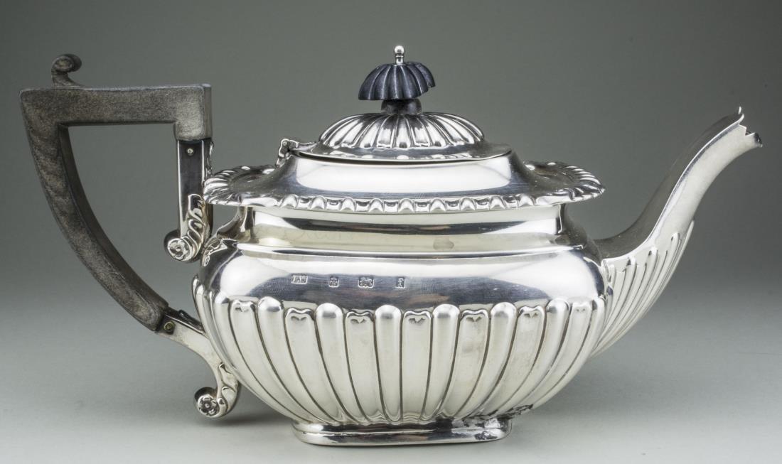 English Silver Teapot   * - 2