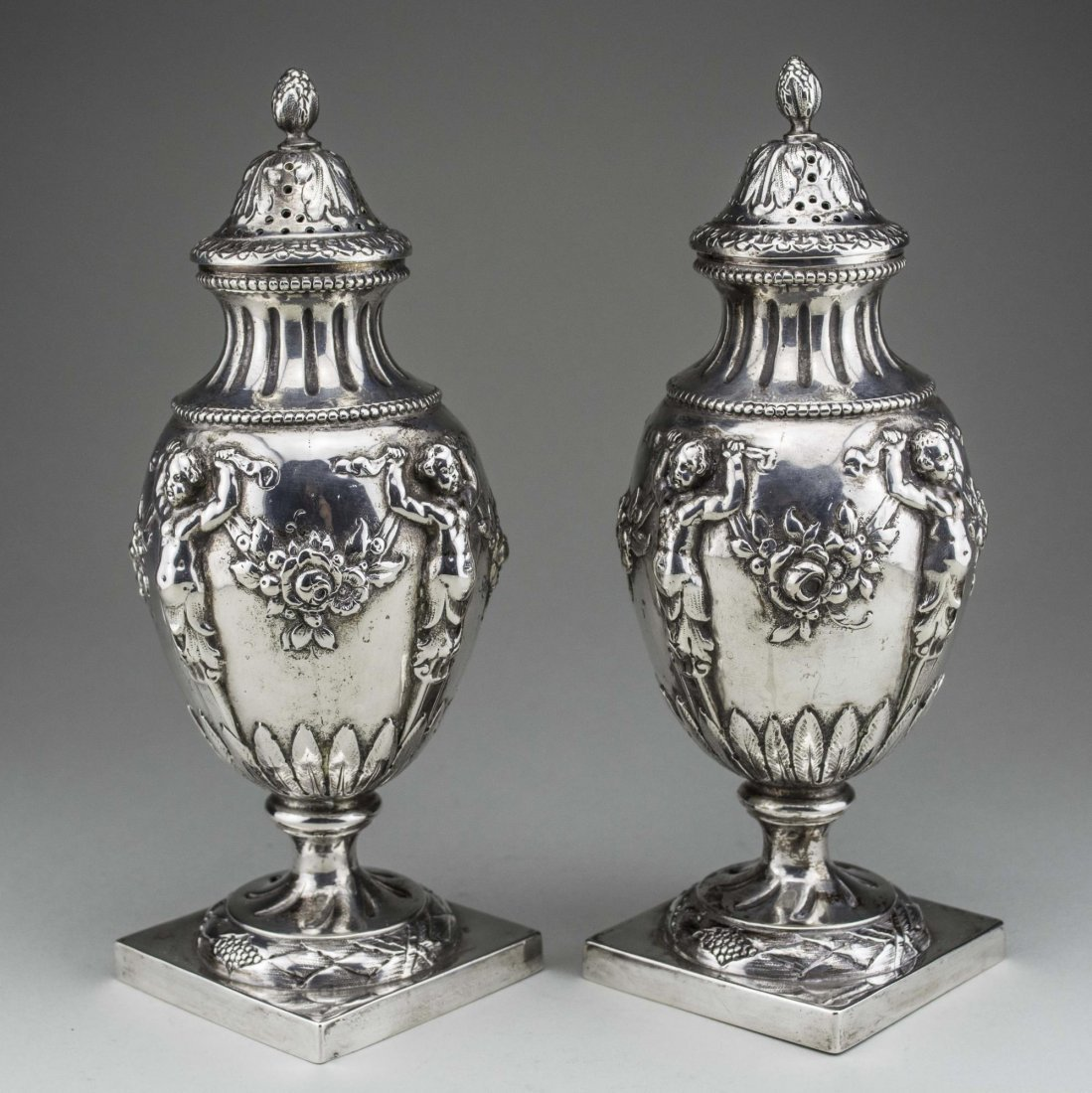 Pair of German Silver Casters - 2