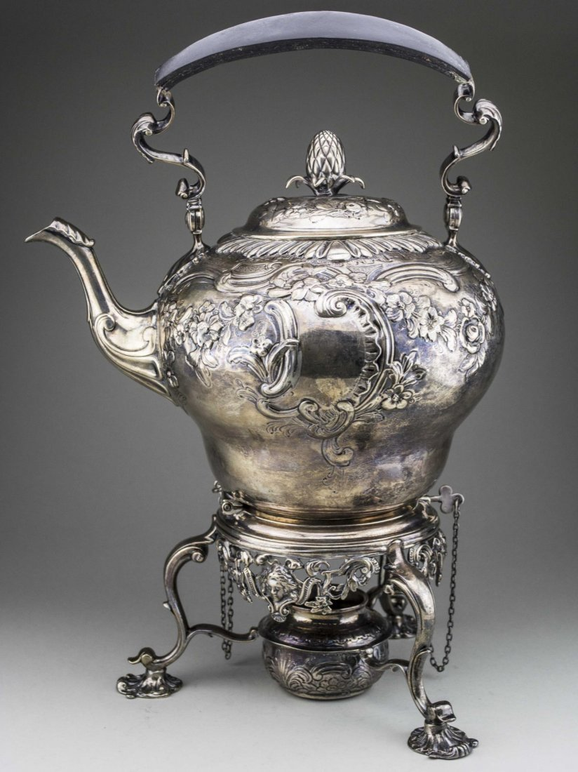 Georgian Silver Kettle on Stand