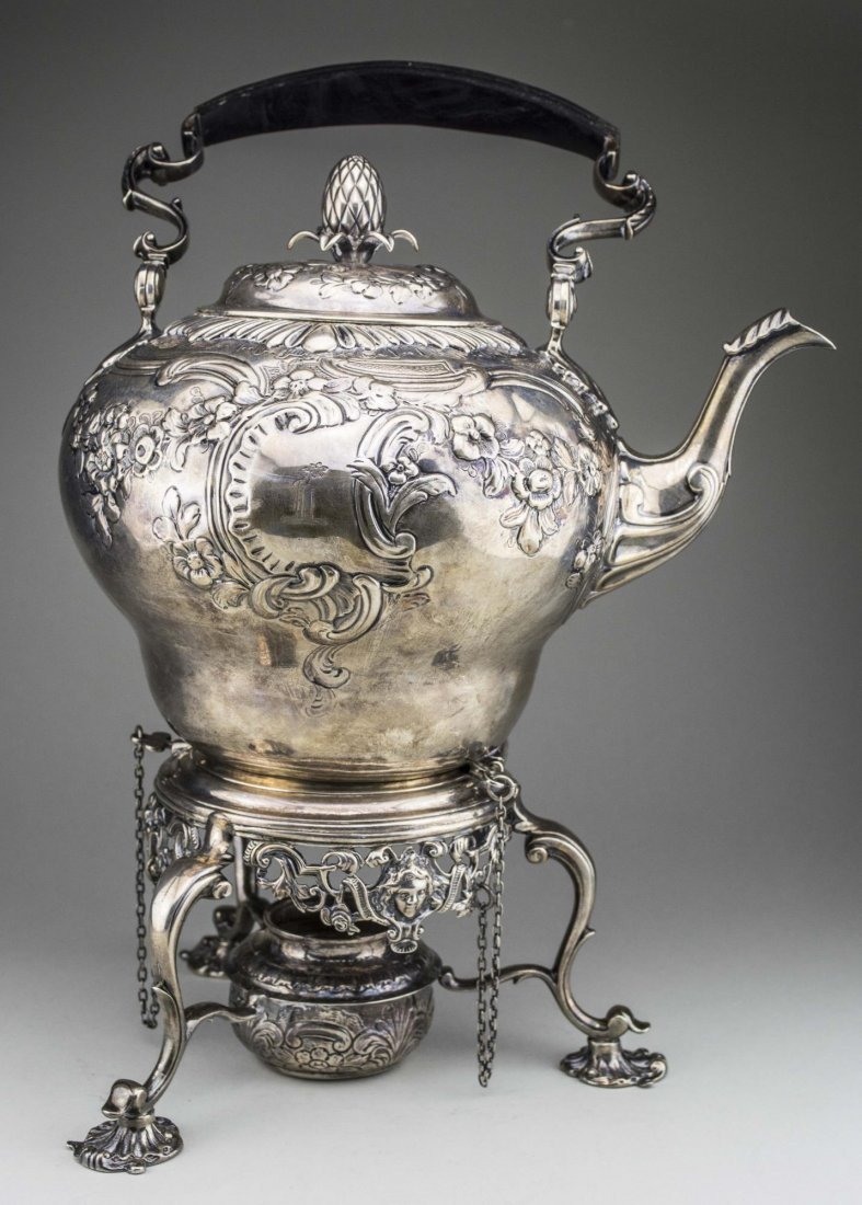 Georgian Silver Kettle on Stand - 2