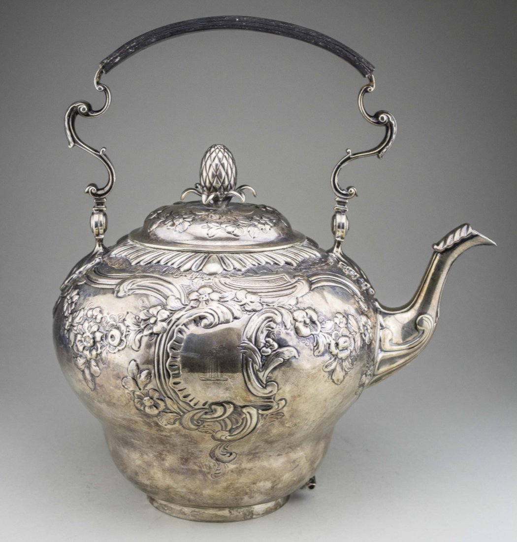 Georgian Silver Kettle on Stand - 3
