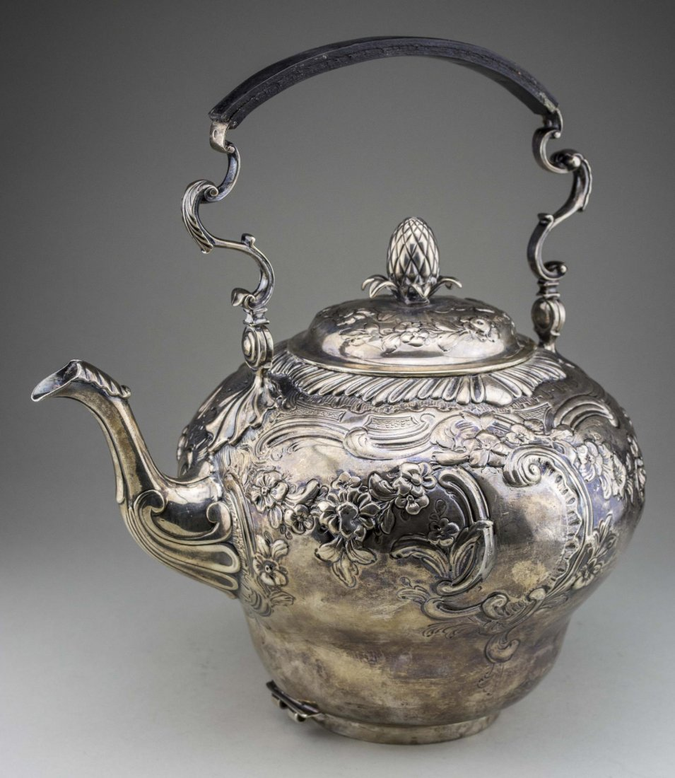 Georgian Silver Kettle on Stand - 4