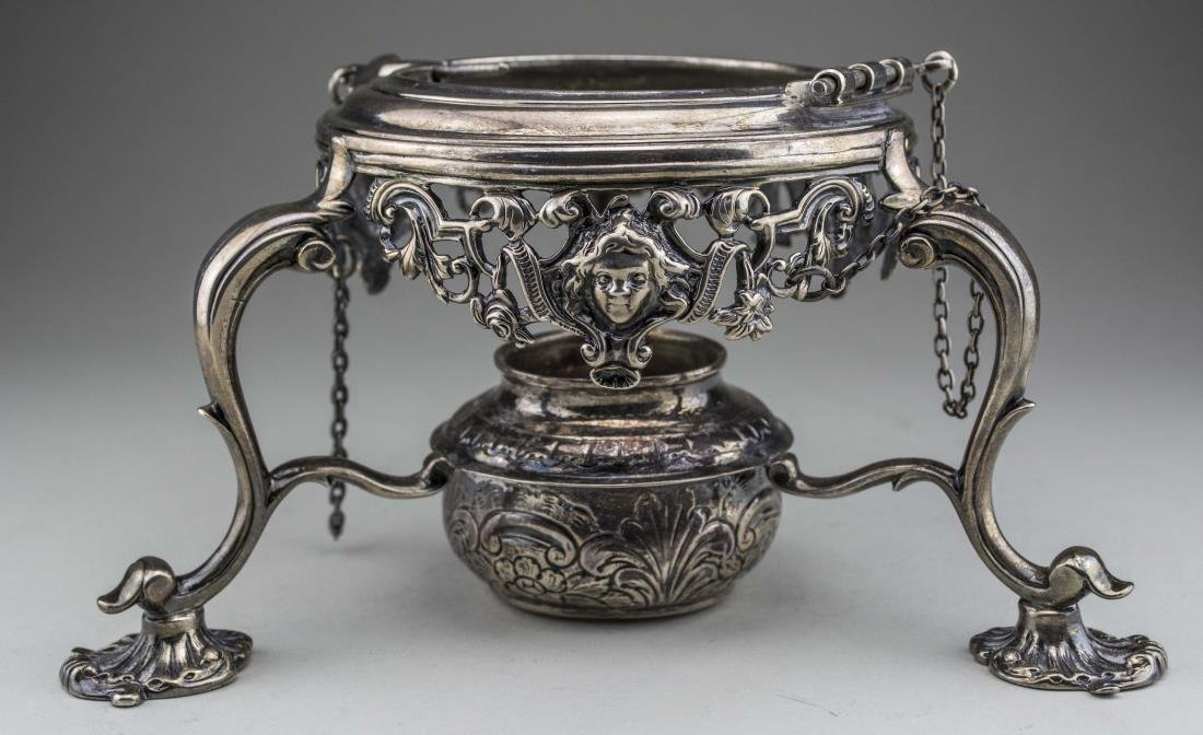 Georgian Silver Kettle on Stand - 6
