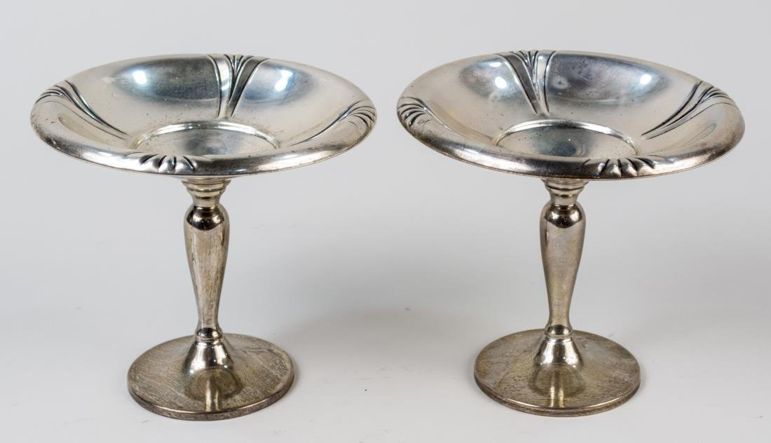 Pair of American Sterling Silver Compotes
