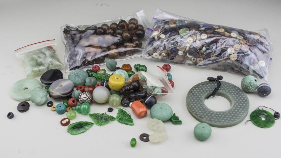 Group of Jade and Bead Jewelry