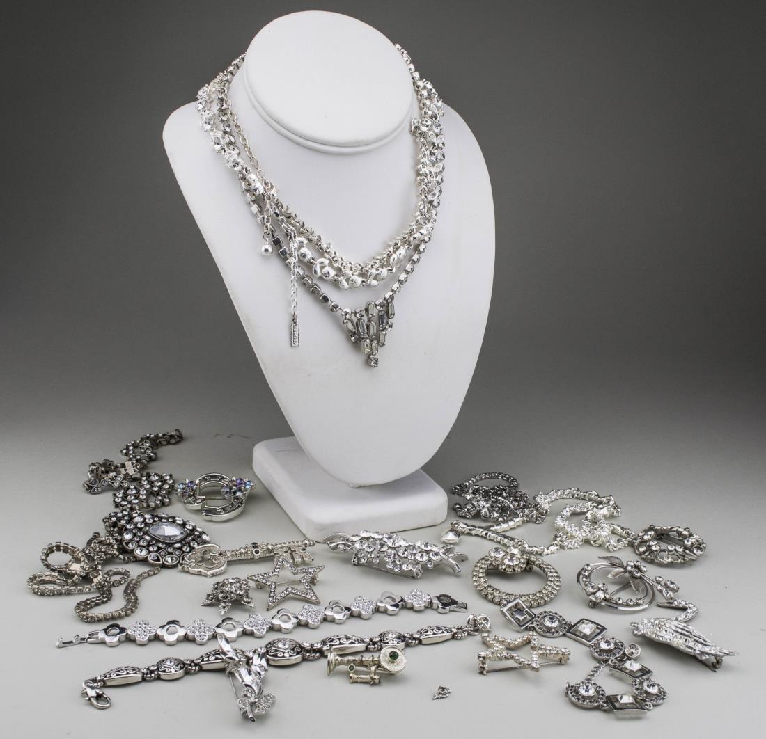 Group of Rhinestone Jewelry