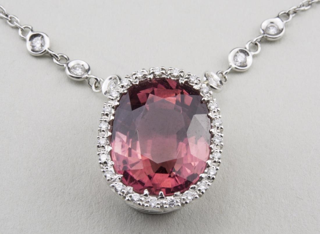 Tourmaline and Diamond Pendant   *