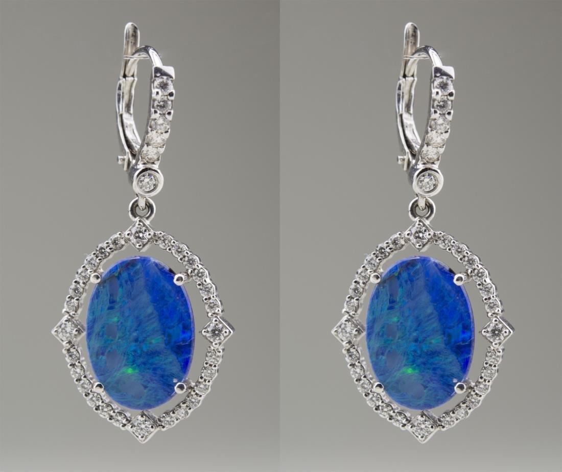 Opal and Diamond Earrings   *
