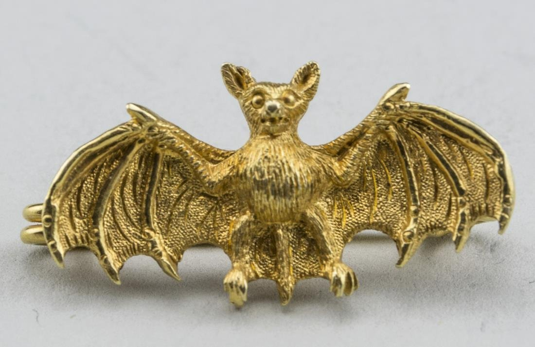 Gold Bat Pin