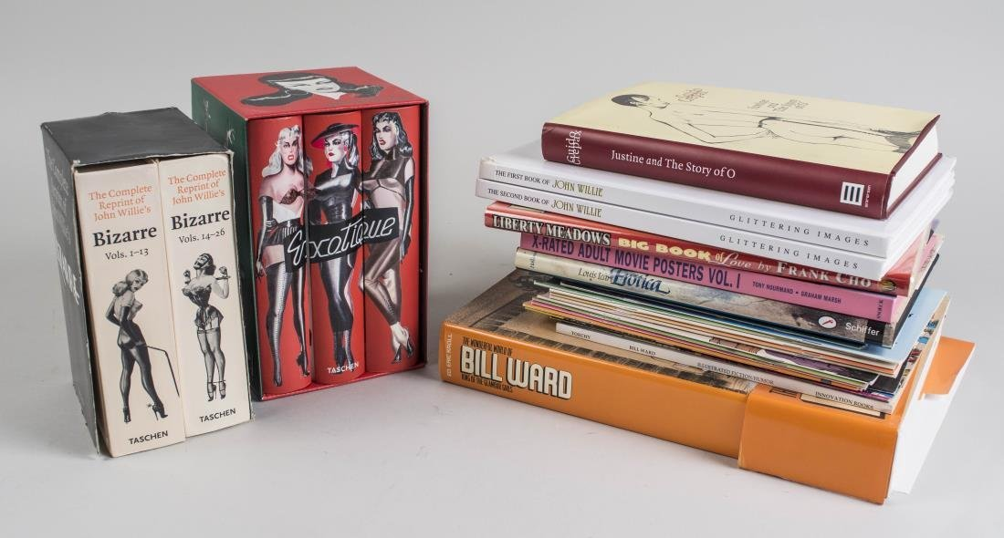Group of Books on Erotic Illustration