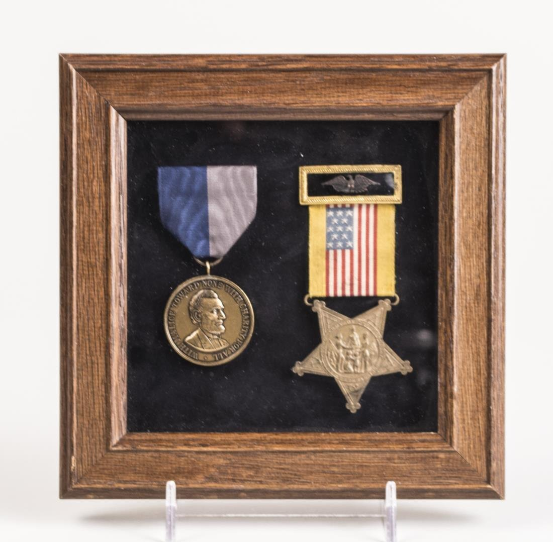 Two Framed American Medals