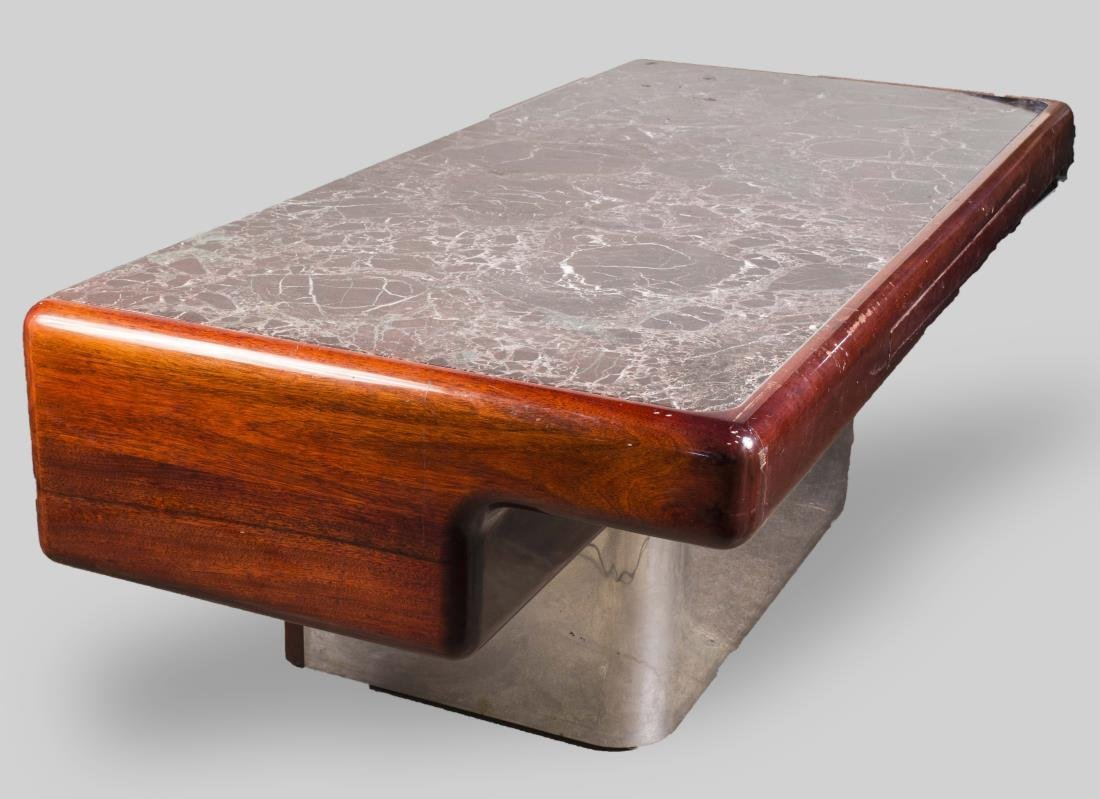 Vladimir Kagan Marble Top Desk - 3