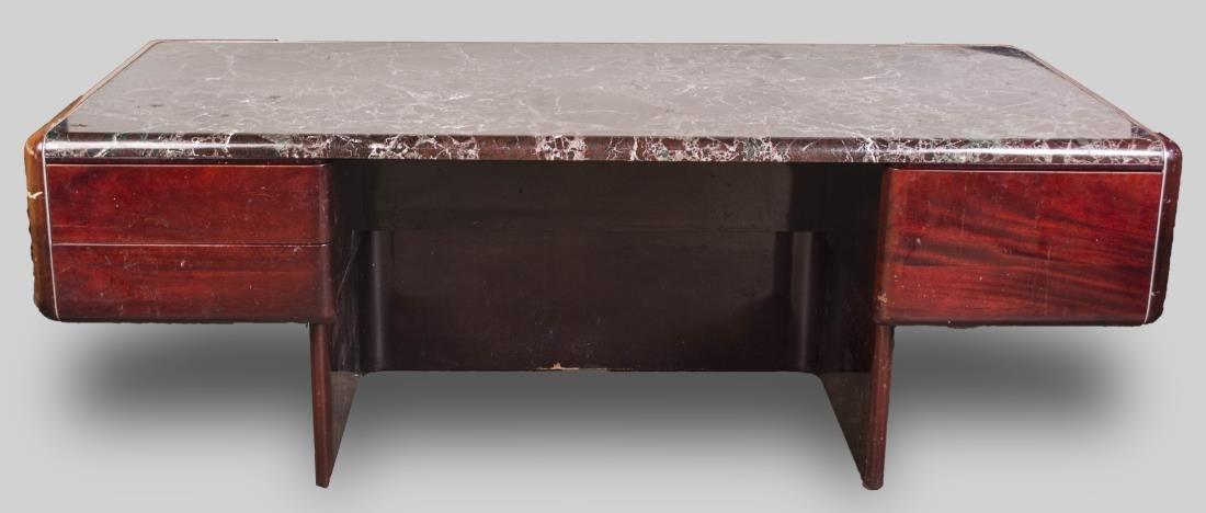 Vladimir Kagan Marble Top Desk - 4
