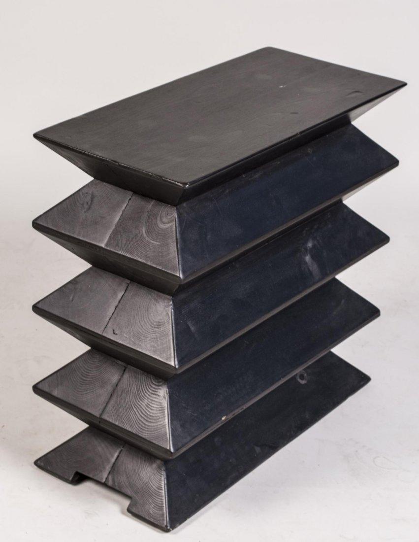 Modernist Black Stack End Table - 2