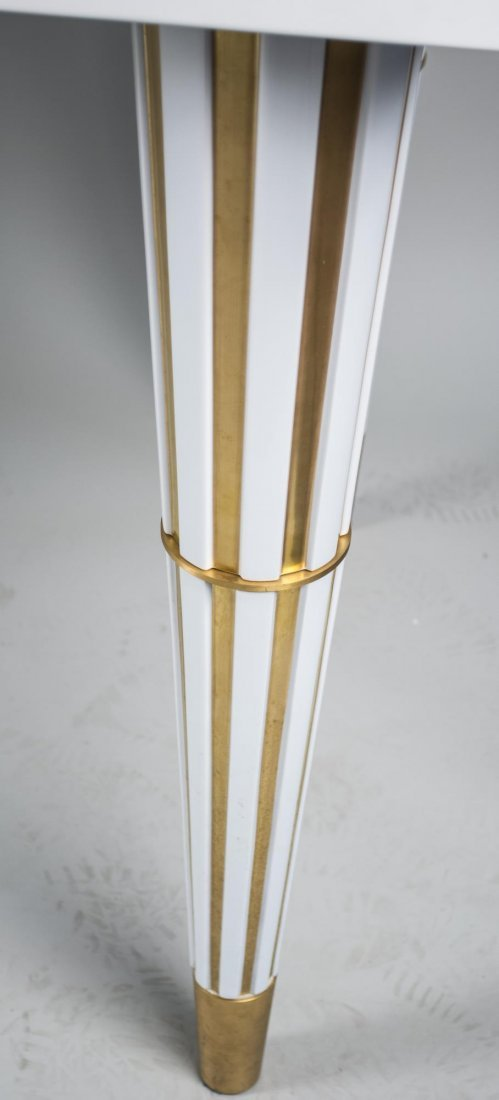 White Lacquer Top Table - 2