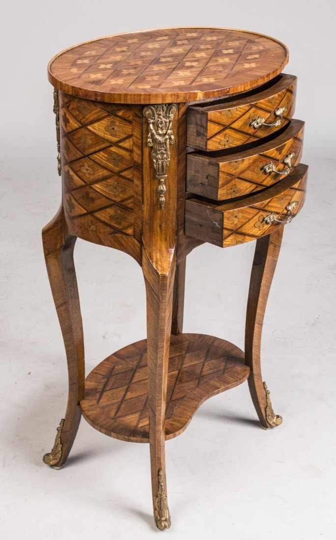 French Louis XV / XVI Transitional Style Stand - 2