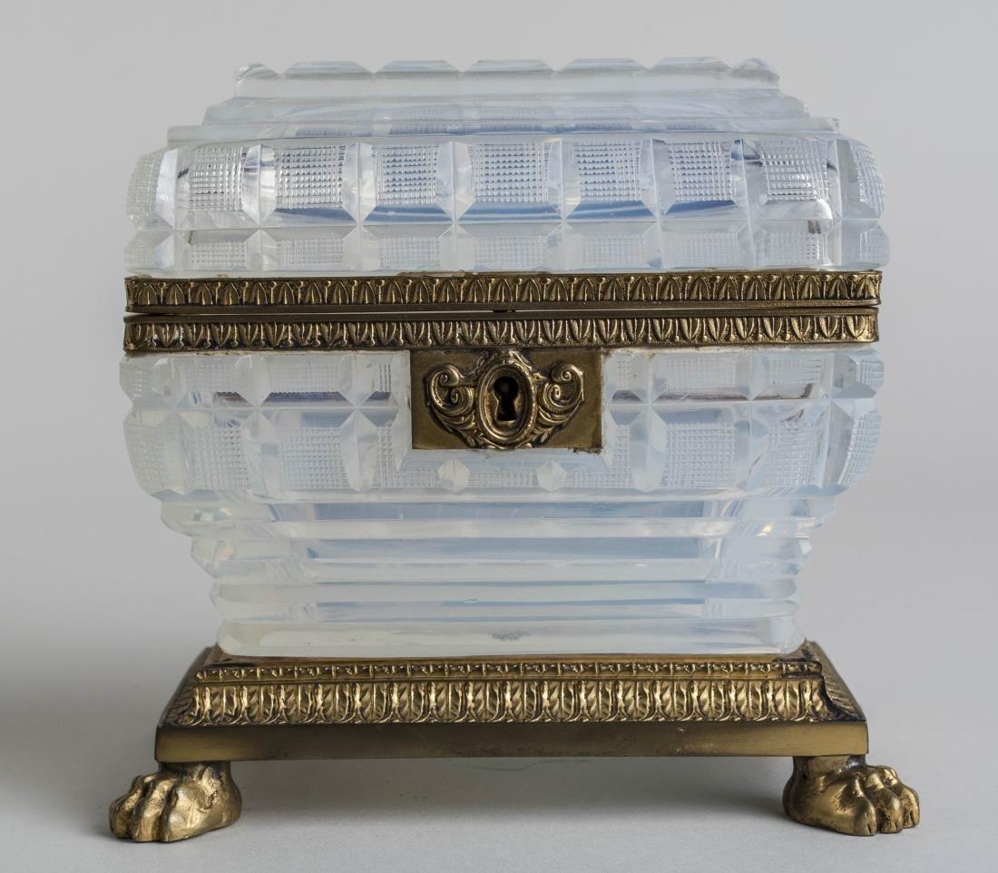 French Opaline Glass Dresser Box