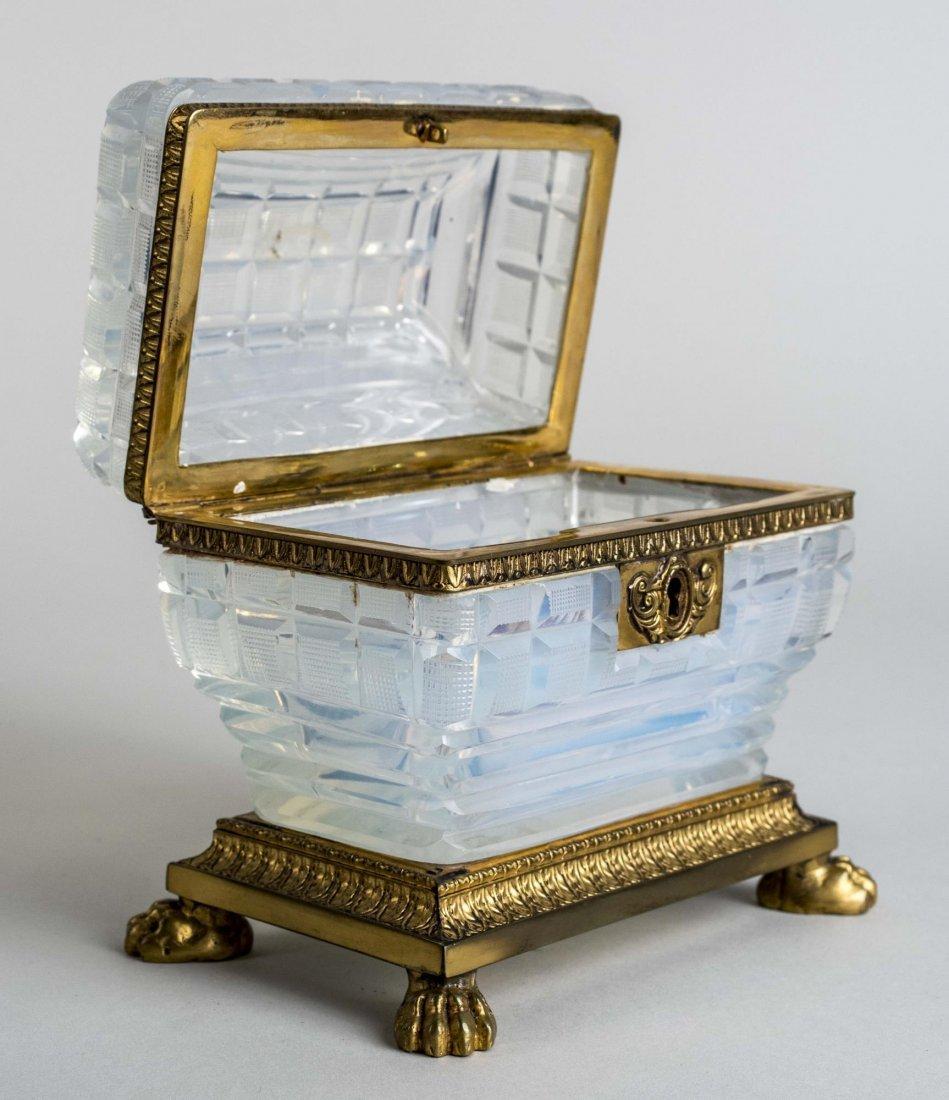 French Opaline Glass Dresser Box - 2