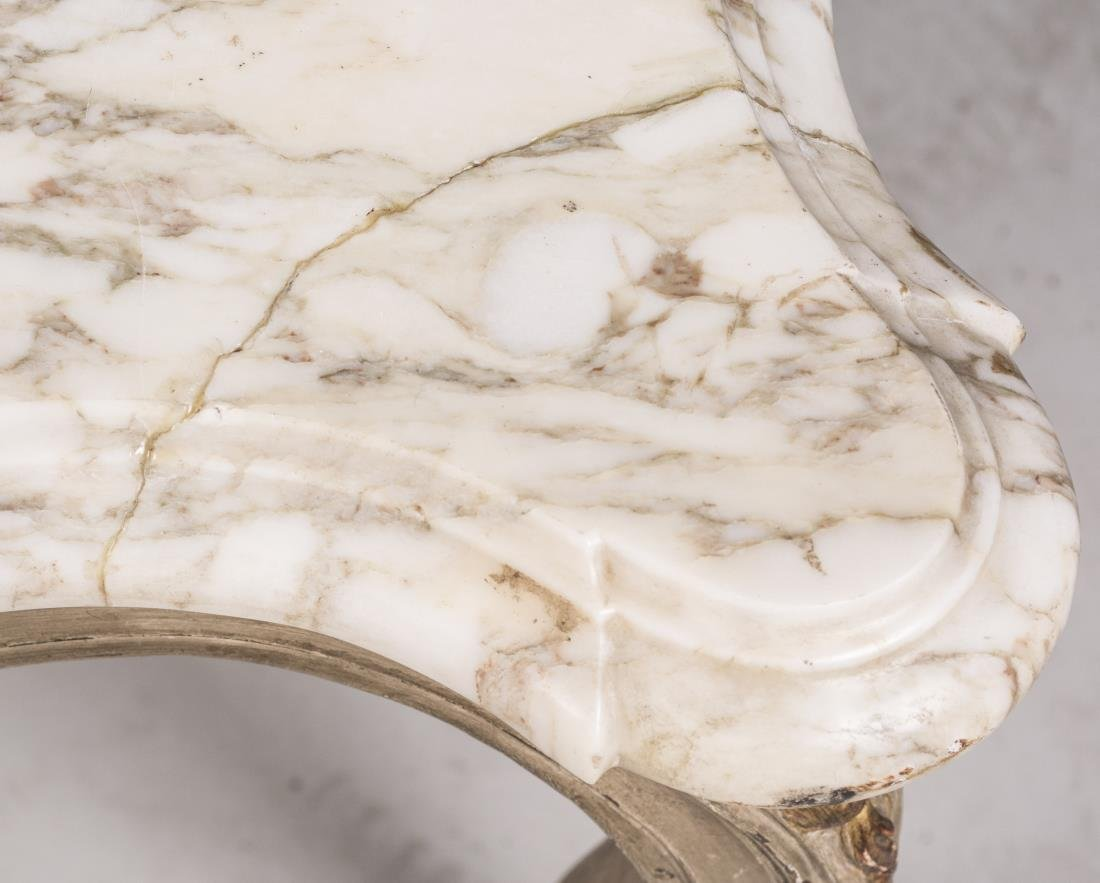 Louis XV Style Marble Top Low Table - 2