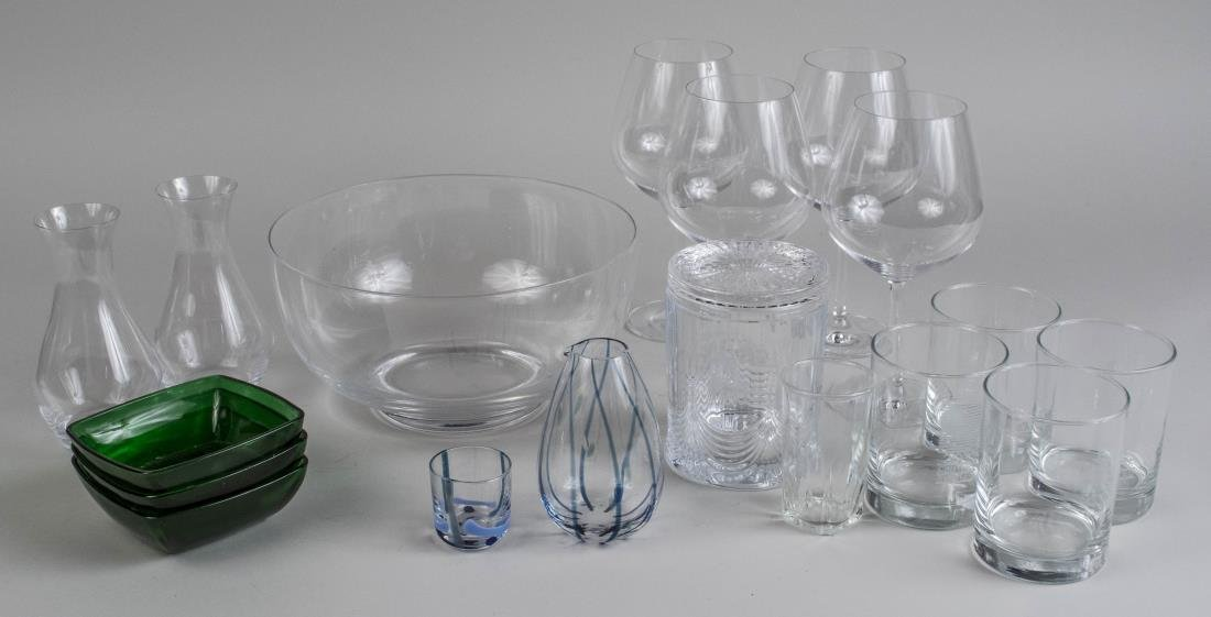 Group of Glass Table Decoration