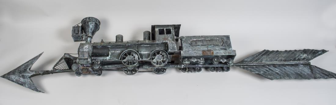 Copper Train Weathervane