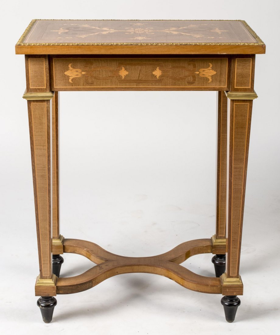 Pair of Continental Marquetry Side Tables - 2