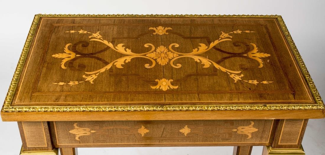 Pair of Continental Marquetry Side Tables - 3
