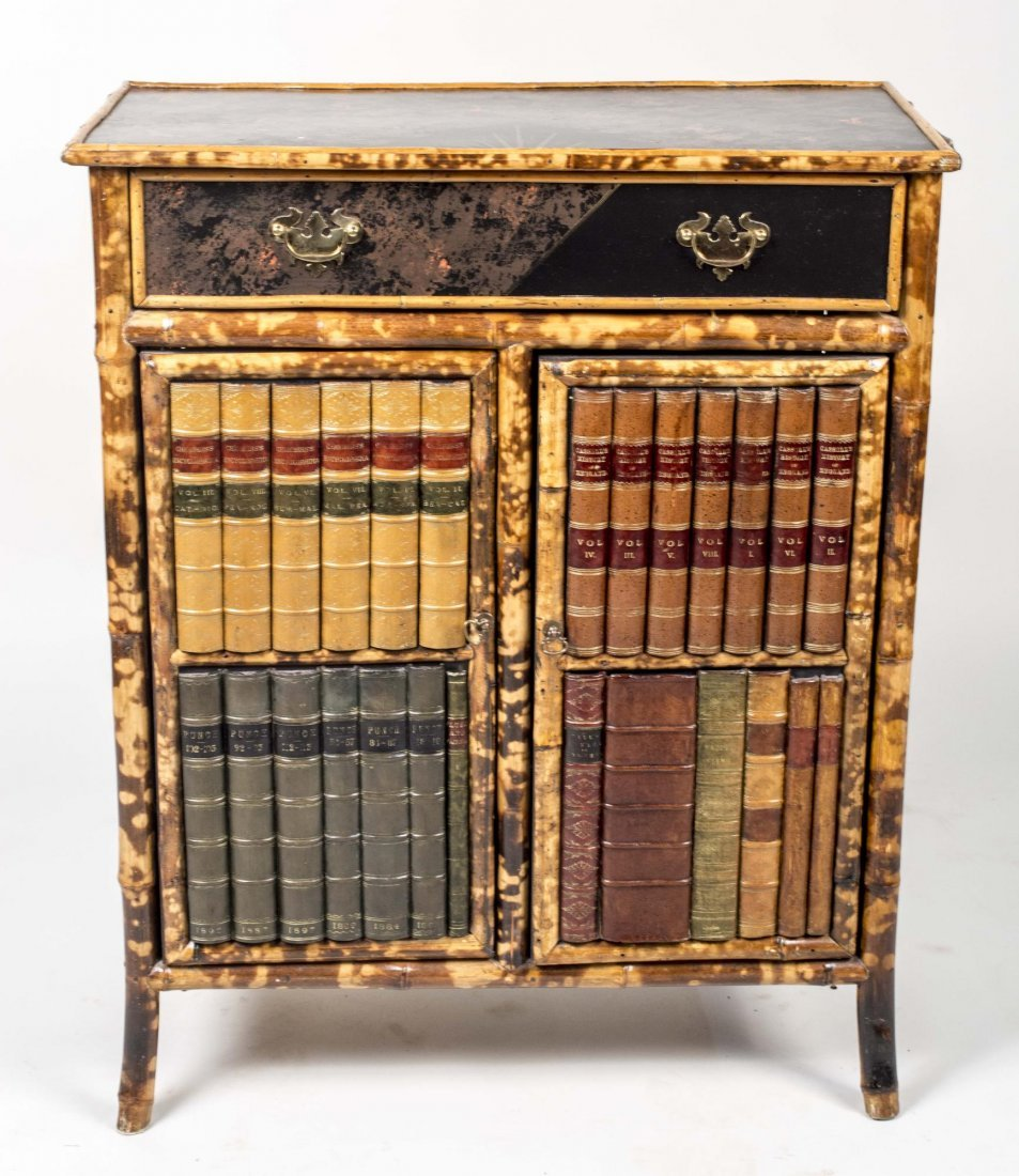 Regency Style Bamboo Faux Front Cabinet