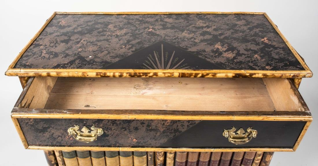 Regency Style Bamboo Faux Front Cabinet - 2