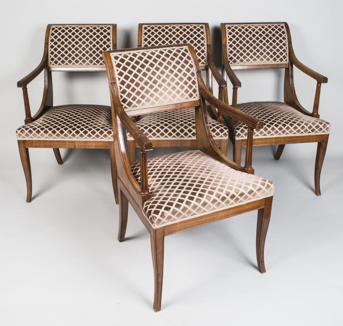 Four Regency Style Armchairs