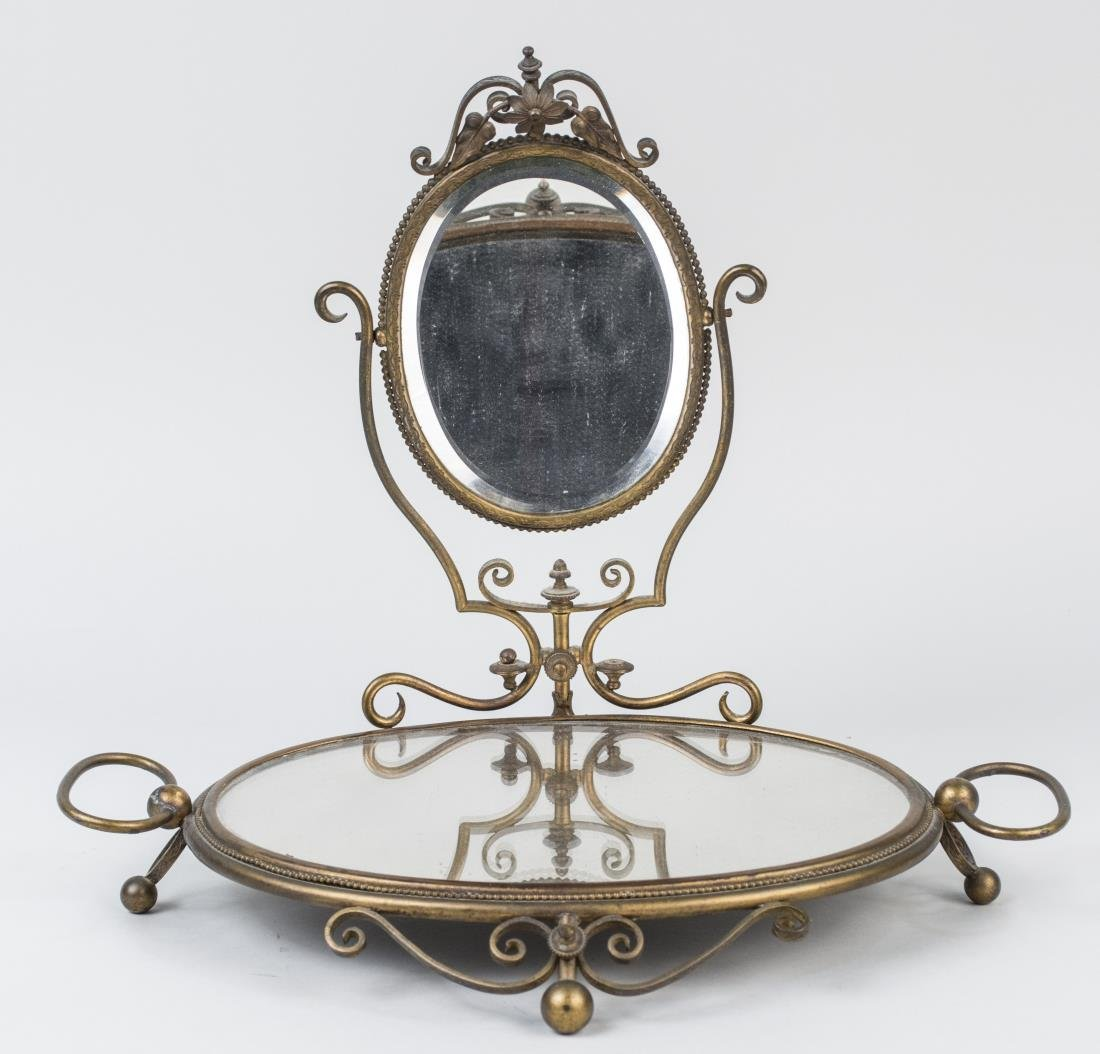 French Mirrored Dresser Tray