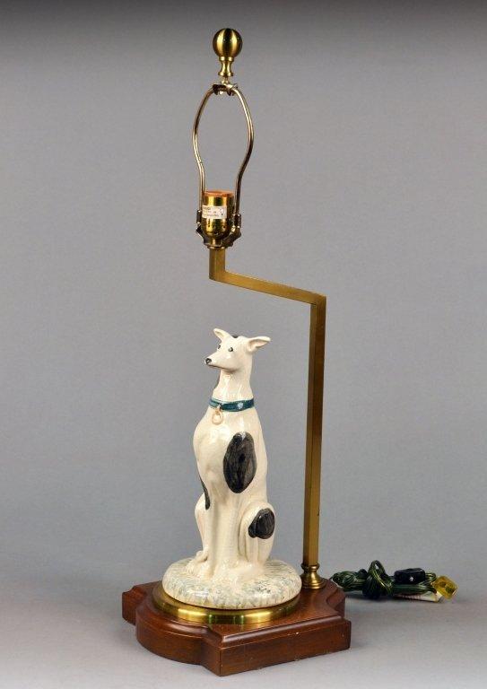 Porcelain Hound Lamp