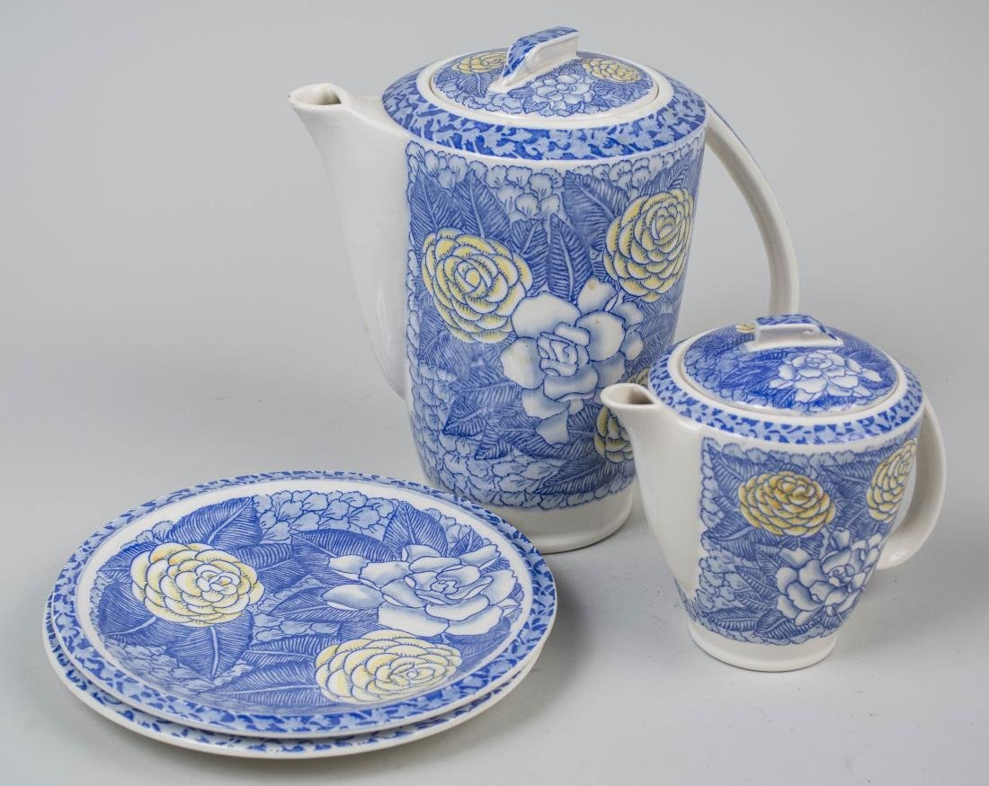 Don Blanding for Vernon Kilns Coffee and Tea Set