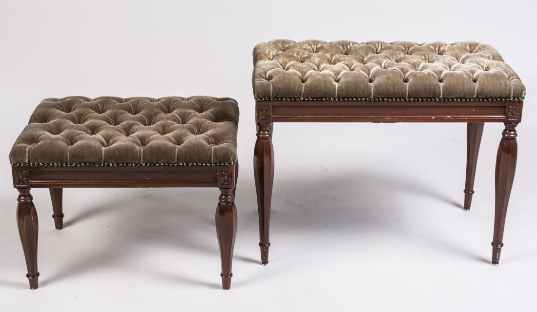 Two Sheridan Style Mahogany Benches