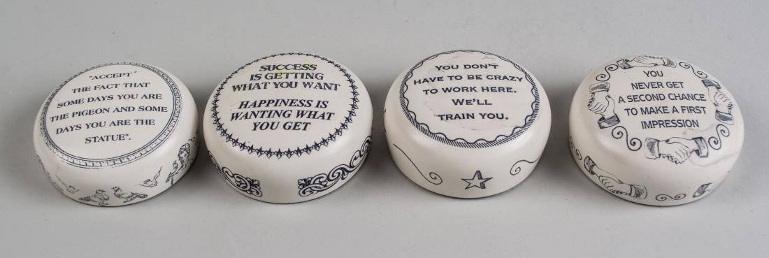 Group of Four English Satirical Paperweights