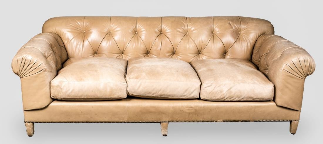 Simulated Leather Chesterfield