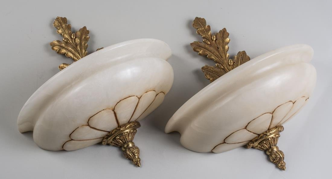 Pair of Alabaster Wall Sconces