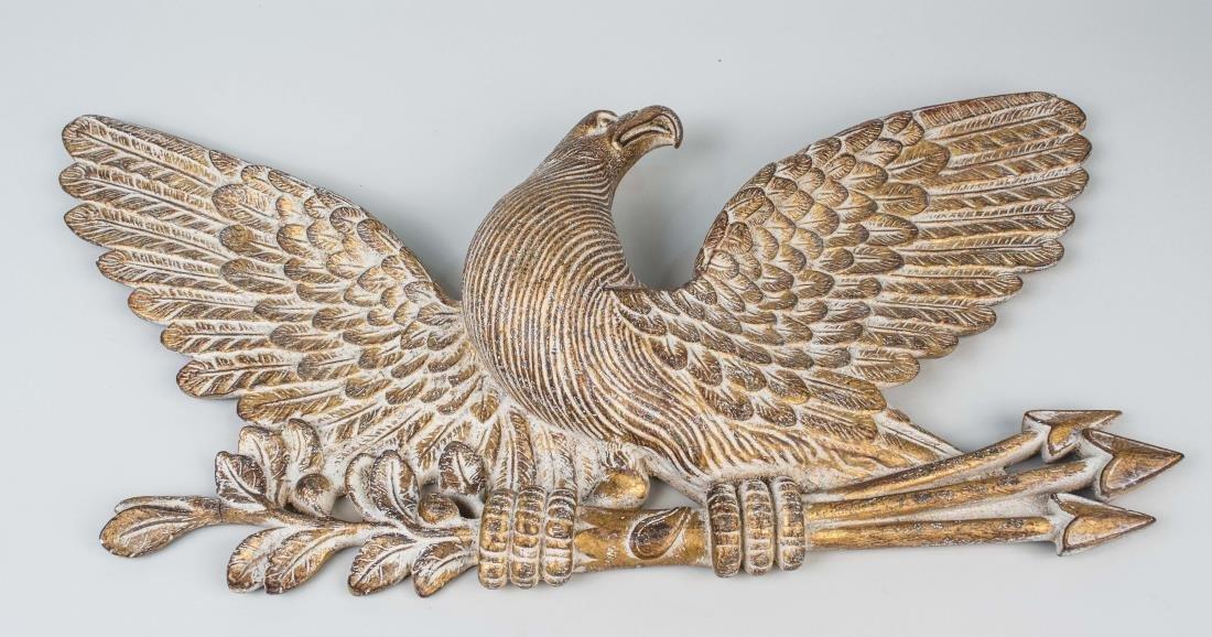 Composite Gilt Eagle Decoration