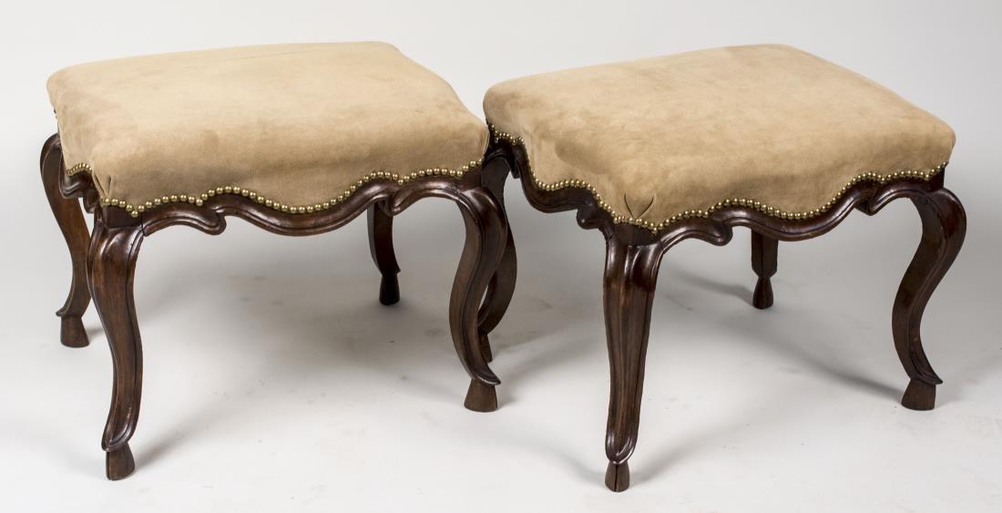 Pair of Louis XV Style Stools