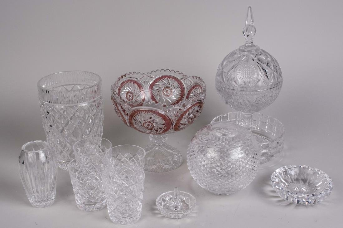 Group of Glass Table Articles