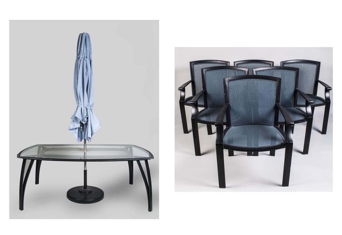 Brown Jordan Wave & Coast DiningTable & Six Chairs