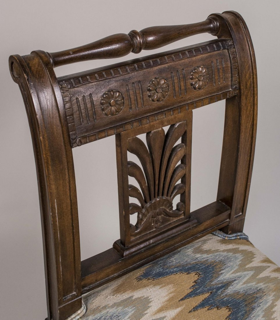 French Directoire Carved Window Bench - 3