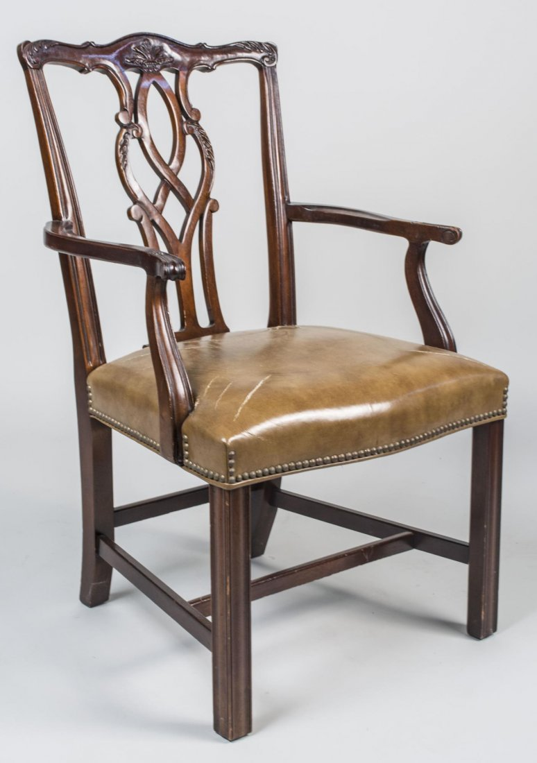 Set of Four Chippendale Style  Armchairs - 2