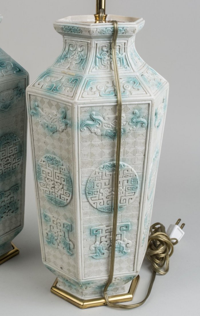 Pair of Porcelain Lamps - 2
