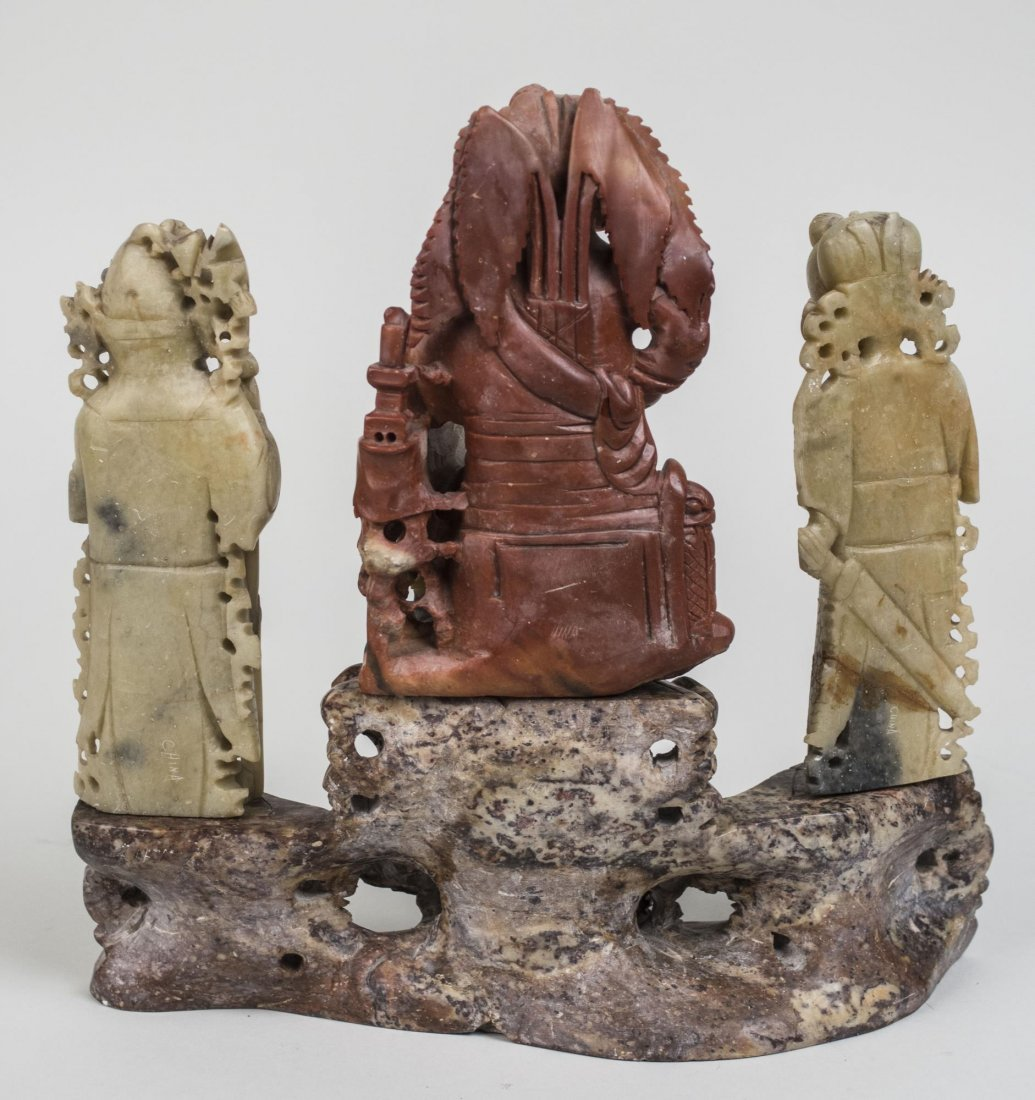 Chinese Carved Hardstone Figure Group - 2