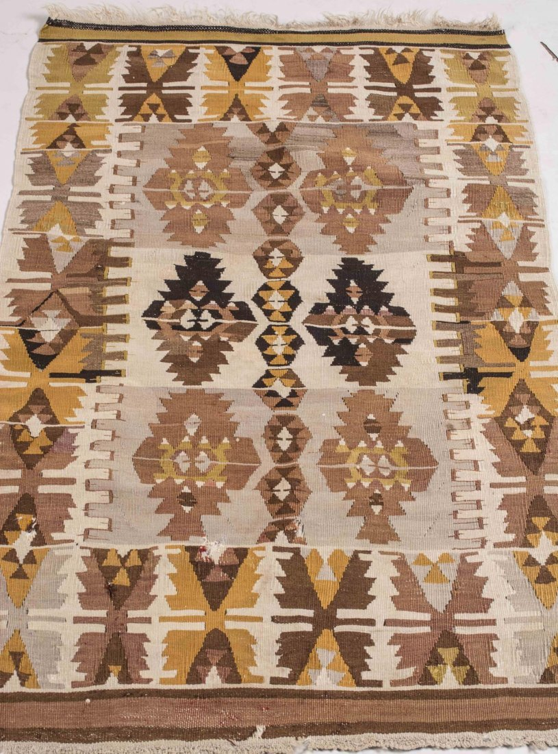 Modern Turkish Kilim Carpet