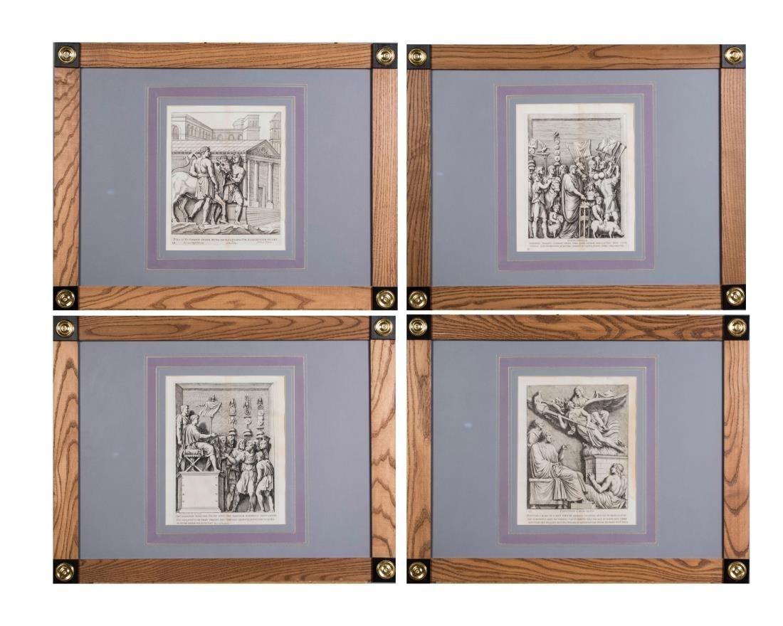 Four Vintage Neoclassical Engravings