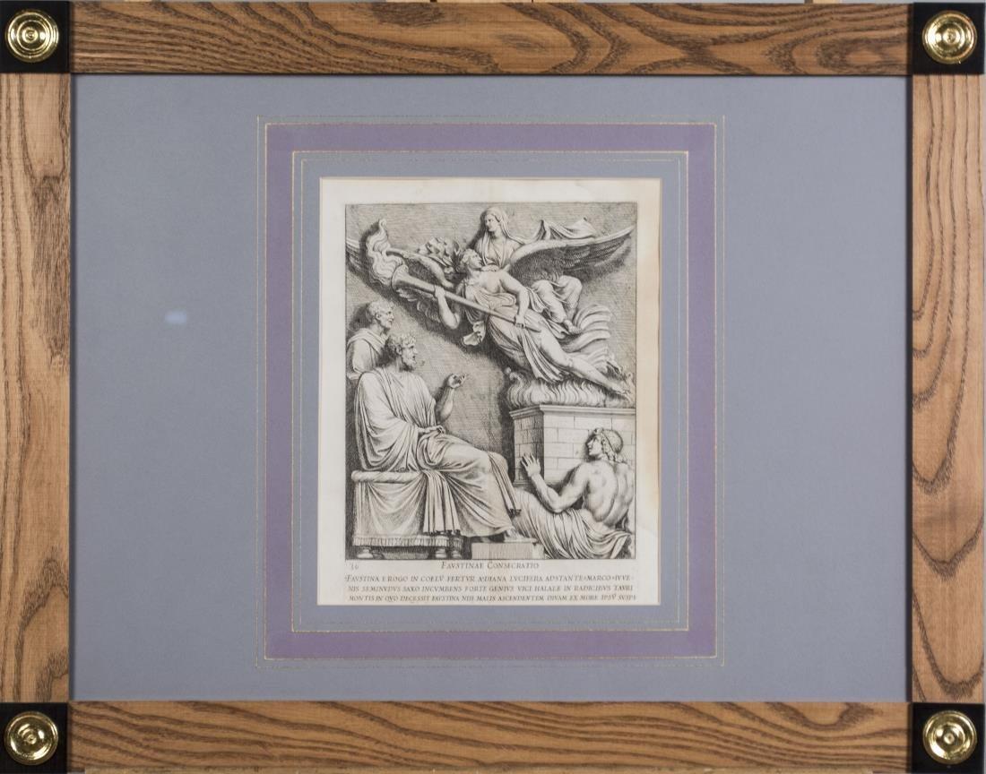 Four Vintage Neoclassical Engravings - 4