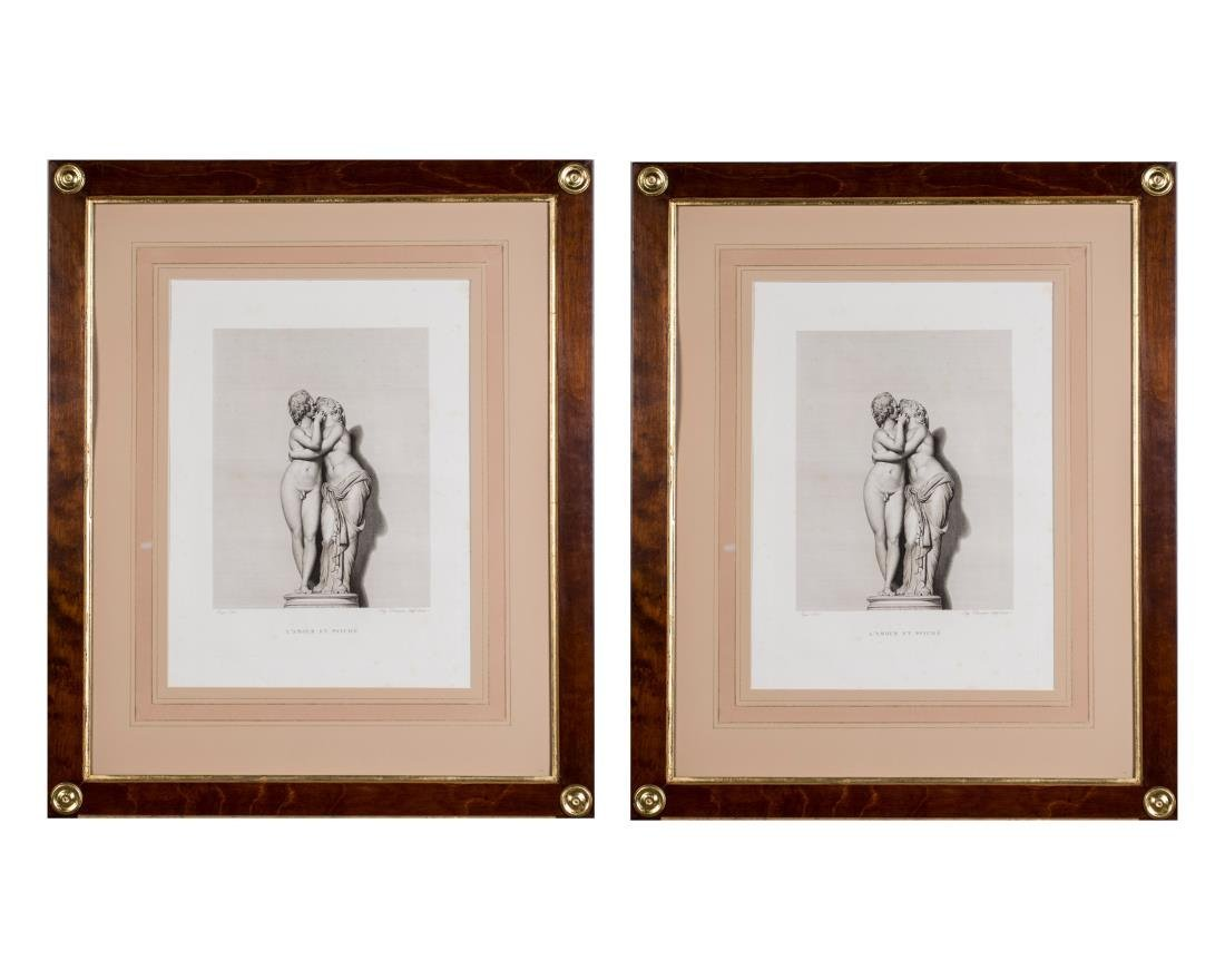Pair of 19th Century Prints of Greek Statues