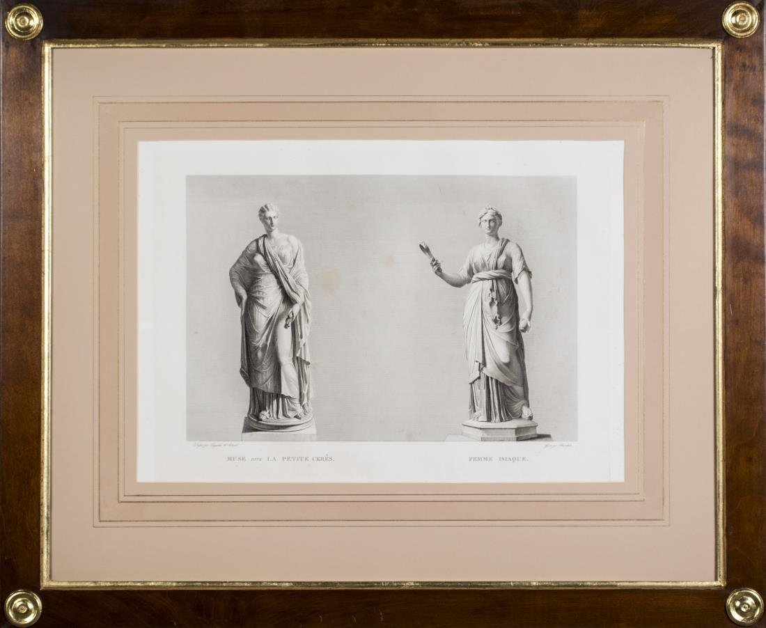 Pair of 19th Century Prints of Greek Statues - 2